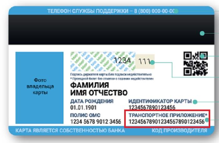 ЕКП номер транспортного приложения