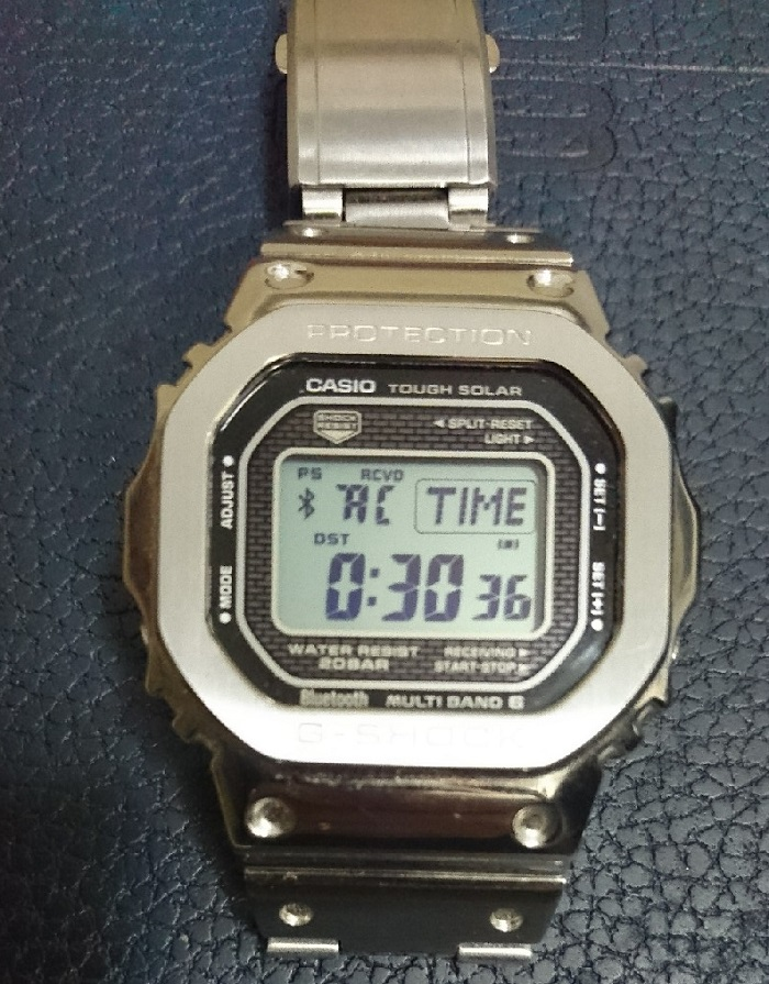 блутуз синхронизация часов Casio G-Shock GMW-B5000